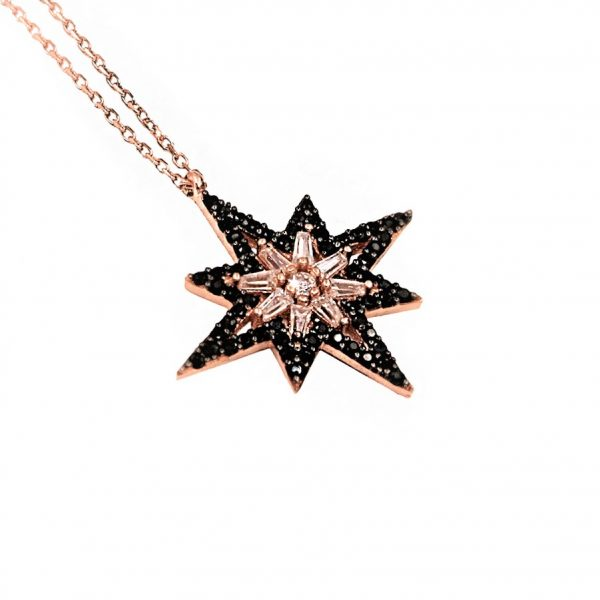 Pole Star Silver Necklace